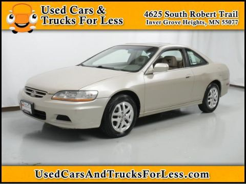Pre-Owned 2002 Honda Accord Cpe EX w/Leather FWD 2dr Car